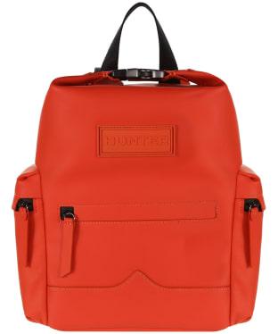 Hunter Original Mini Top Clip Backpack - Rubberised Leather - Orange