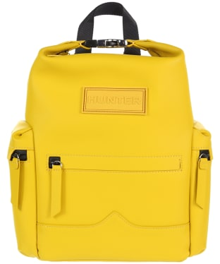 Hunter Original Mini Top Clip Backpack - Rubberised Leather - Yellow