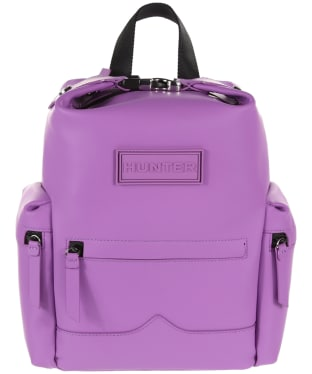 Hunter Original Mini Top Clip Backpack - Rubberised Leather - Thistle
