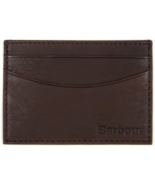 Men's Barbour Leather Cardholder - Dark Brown