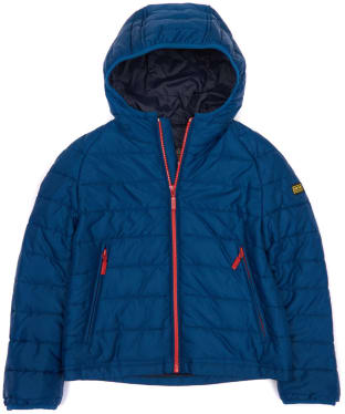 Boy's Barbour International Locking Hooded Jacket, 2-9yrs - Petrol Blue