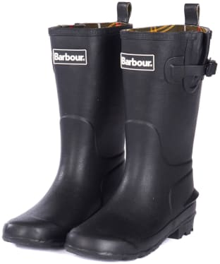 Barbour Kids Simonside Wellington Boots - Black