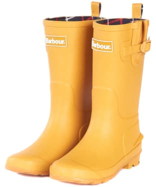 Barbour Kids Simonside Wellington Boots - Lunar Yellow