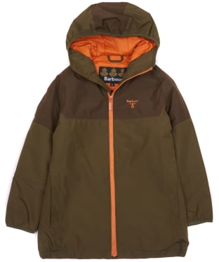 Boy's Barbour Troutbeck Waterproof Jacket, 2-9yrs - Army Green