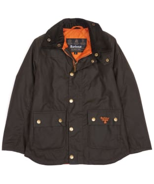 Boy's Barbour Stybarrow Waxed Jacket, 2-9yrs - Olive
