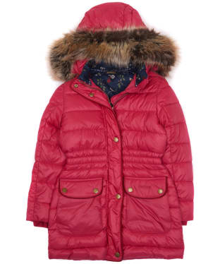 Girl's Barbour Redpole Quilted Jacket, 2-9yrs - Grenadine