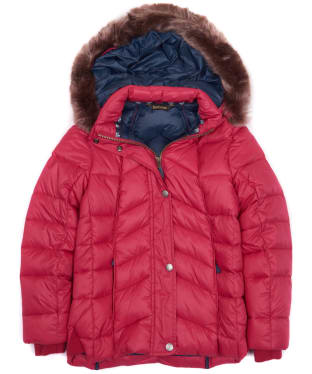 Girl's Barbour Bernera Quilted Jacket, 2-9yrs - Grenadine