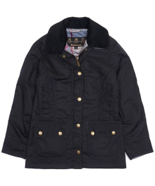 Girl's Barbour Bower Waxed Jacket, 10-15yrs