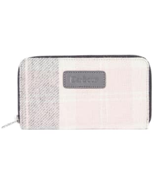 Women's Barbour Wool Tartan Purse - Pink / Grey Tartan