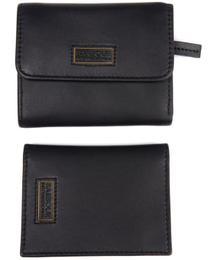 Women's Barbour International Cardholder Gift Set - Black