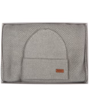 Women's Barbour Super Soft Wrap and Beanie Giftset - Grey