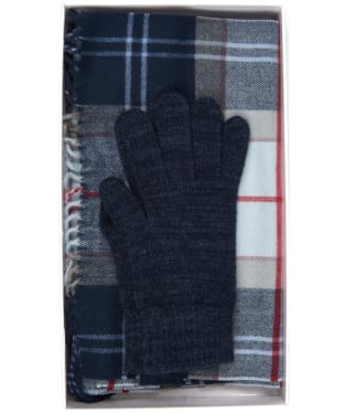 Women's Barbour Hailes Gift Set - Navy Tartan