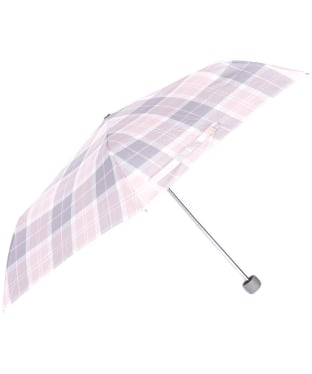 Women's Barbour Portree Umbrella - Pink / Grey Tartan