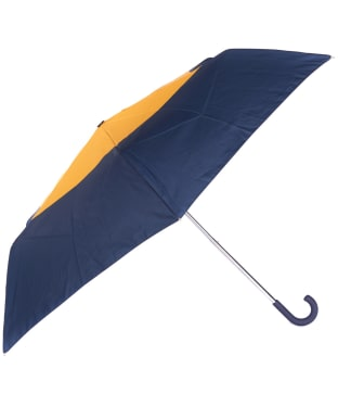 Women's Barbour Weather Comfort Handbag Umbrella - Navy / Yellow