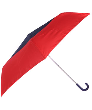 Women's Barbour Weather Comfort Handbag Umbrella - Red / Navy