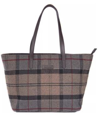 Women's Barbour Witford Tartan Tote Bag - Winter Tartan