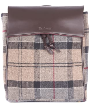 Women's Barbour Milport Backpack - Winter Tartan
