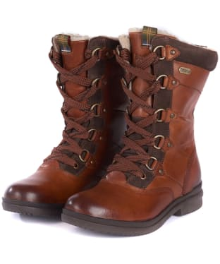 Women's Barbour Laura Waterproof Boots - Chestnut