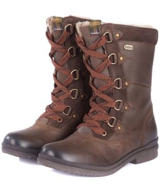 Women's Barbour Laura Waterproof Boots - Dark Brown