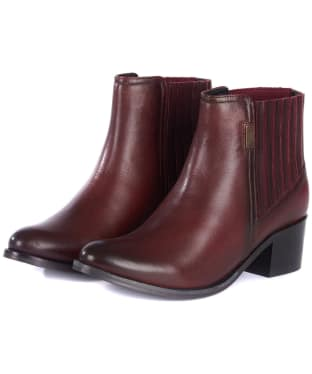 Women's Barbour International Compton Chelsea Boots - Bordeaux
