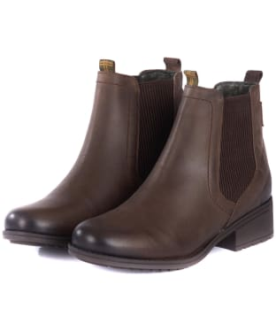 Women's Barbour Rimini Chelsea Boots - Dark Brown