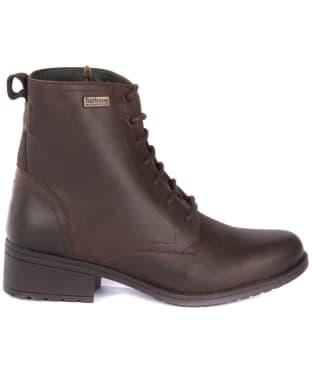 Women's Barbour Roma Derby Boots - Dark Brown