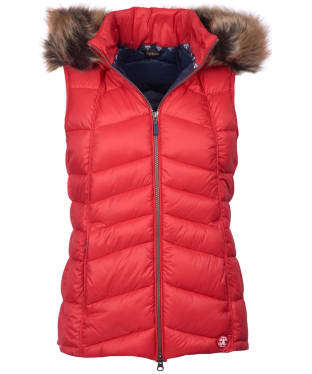 Women's Barbour Bernera Gilet - Reef Red