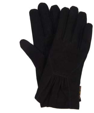 Women's Barbour Bowfell Gloves - Black Suede