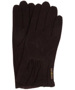Women's Barbour Bowfell Gloves - Chocolate Suede