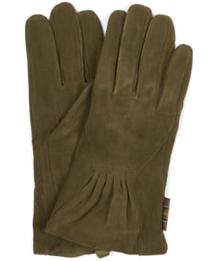 Women's Barbour Bowfell Gloves - Khaki Suede