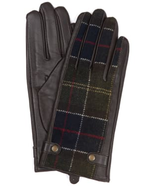 Women's Barbour Galloway Gloves - Brown / Classic