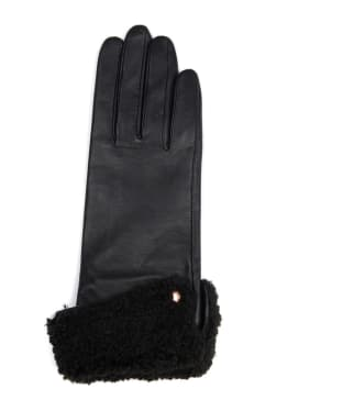 Women's Barbour International Weld Leather Gloves - Black