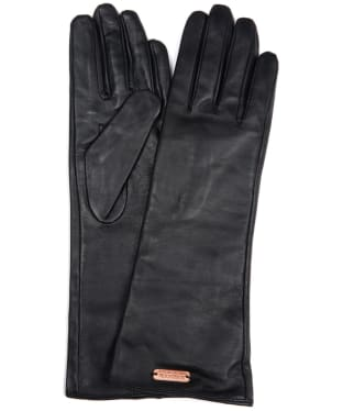 Women's Barbour International Estoril Leather Gloves - Black