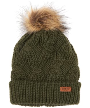 Women's Barbour Ashridge Beanie Hat - Fern