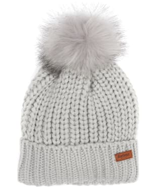 Women's Barbour Saltburn Bobble Hat - Ice White