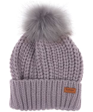 Women's Barbour Saltburn Bobble Hat - Lilac