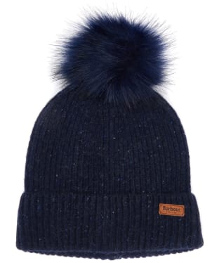 Women's Barbour Weymouth Pom Pom Beanie Hat - Navy