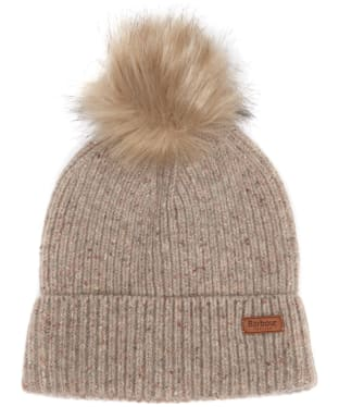 Women's Barbour Weymouth Pom Pom Beanie Hat - Stone
