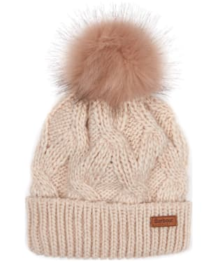 Women's Barbour Bridport Pom Pom Beanie Hat - Pink