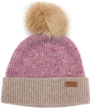 Women's Barbour Foreland Pom Beanie Hat - Lilac