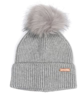 Women's Barbour International Mallory Pom Beanie - Light Grey