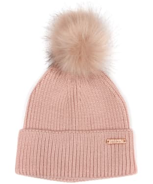 Women's Barbour International Mallory Pom Beanie - Pink