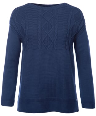 Women's Barbour Weymouth Knitted Sweater - Navy