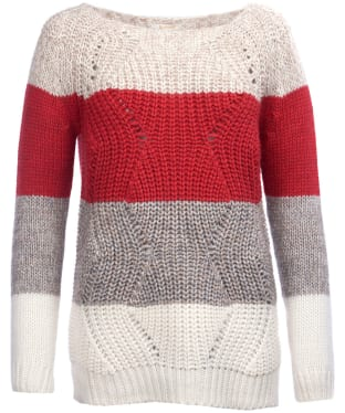 Women's Barbour Padstow Knitted Sweater - Chilli Red