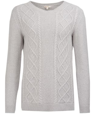 Women's Barbour Leith Crew Neck Sweater - Light Grey Marl