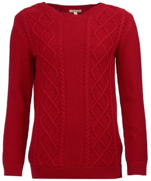 Women's Barbour Leith Crew Neck Sweater - Chilli Red