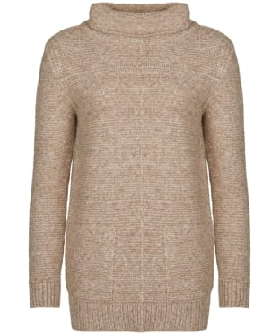 Women's Barbour Malvern Roll Collar Sweater - Oatmeal