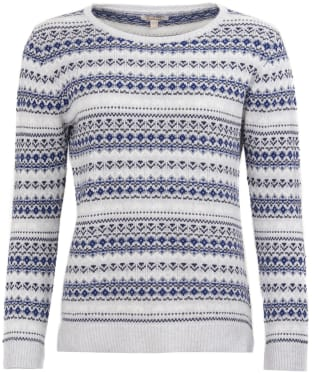 Women's Barbour Roseberry Knitted Sweater - Pale Grey Marl