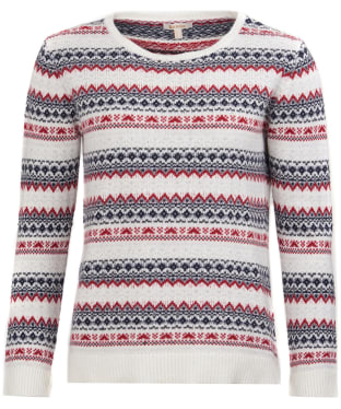 Women's Barbour Roseberry Knitted Sweater - Chilli Red