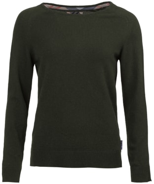 Women's Barbour Pendle Crew Neck Sweater - Olive